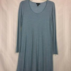 Eileen Fisher Blue Scoop neck Lightweight Dress M